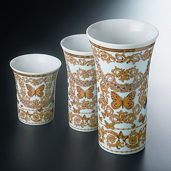 "Versace - Butterfly Garden 13"" Vase"