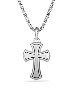 David Yurman - Petrvs Cross Pendant with Black Diamonds