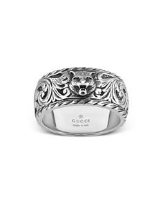 Gucci Sterling Silver Feline Head Carved Ring - Bloomingdale's_0