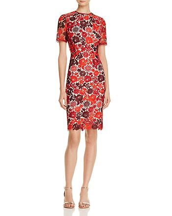 KAREN MILLEN - Embroidered Lace Sheath Dress - 100% Exclusive