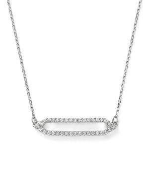 Diamond Geometric Pendant Necklace in 14K White Gold, 16 - 100% Exclusive