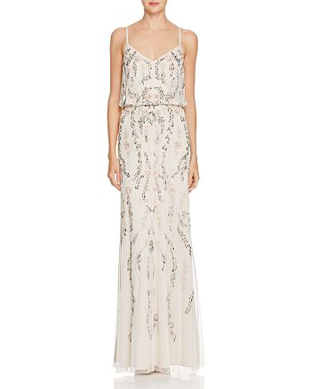 Adrianna Papell Beaded Blouson Gown Bloomingdale S