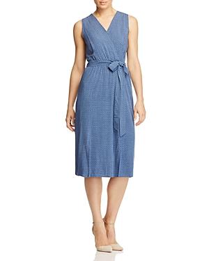 B Collection by Bobeau Kate Geo Chambray Faux-Wrap Dress