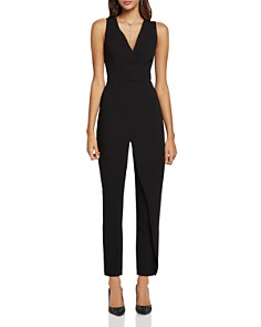 BCBGeneration - Sleeveless Faux-Wrap Jumpsuit