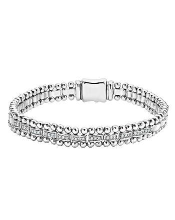 LAGOS - Sterling Silver Caviar Spark Diamond Link Bracelet