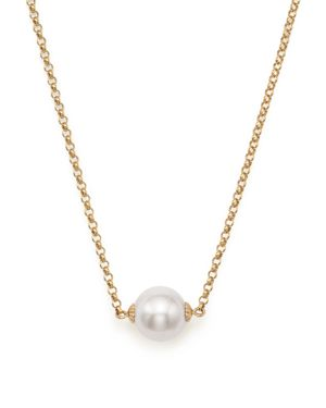 Cultured South Sea Pearl Pendant Rolo Chain Necklace in 14K Yellow Gold, 18 - 100% Exclusive
