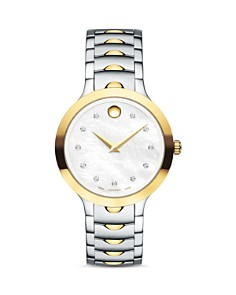 Movado Luno Two Tone Watch with Diamonds, 32mm - Bloomingdale's_0