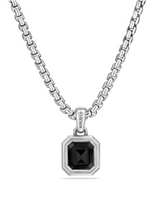 David Yurman - Petrvs Emerald Cut Amulet with Black Onyx