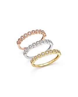 Bloomingdale's - Diamond Milgrain Bezel Stacking Ring in 14K Gold, .25 ct. t.w.
