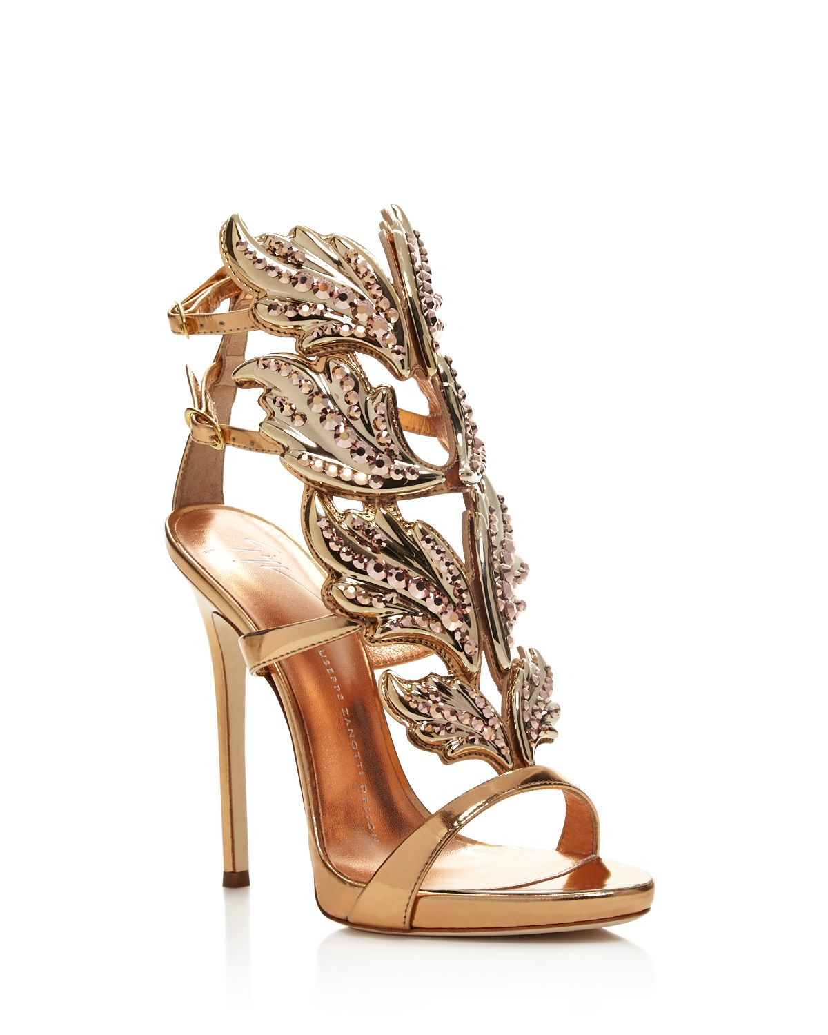 Women's Coline Cruel Embellished Wing High Heel Sandals by Giuseppe Zanotti