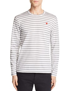 Comme Des Garcons PLAY - Striped Logo Tee