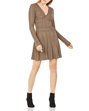 Bcbgmaxazria Kinley Striped Mesh Dress at Bloomingdale's