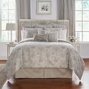 Waterford - Sophia Floral Jacquard Comforter Set, Queen