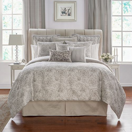 Waterford - Sophia Floral Jacquard Comforter Set, California King