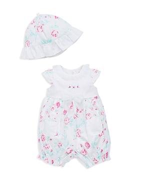Little Me Infant Girls' Floral Romper & Hat Set - Sizes 3-9 Months