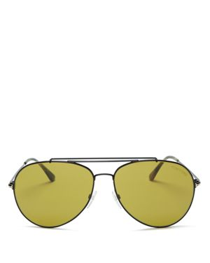 Tom Ford Indiana Aviator Barberini Sunglasses, 60mm