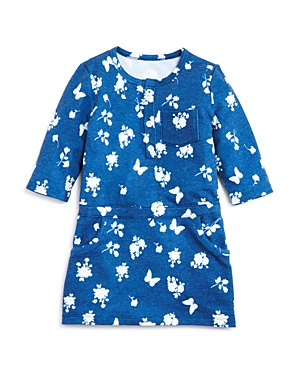 Bloomies Girls FloralPrint Henley Dress Little Kid  100 Exclusive
