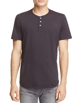 Velvet by Graham & Spencer - Fulton Scallop Hem Henley Tee