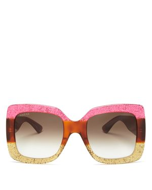 Gucci Women's Oversized Square Sunglasses, 55mm