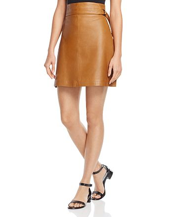 FRENCH CONNECTION - Goldenburg Leather Skirt