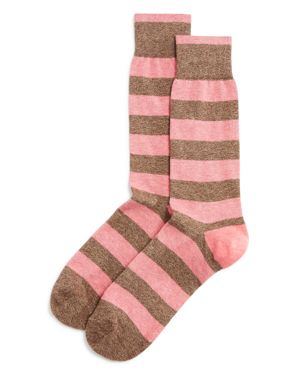 The Men's Store at Bloomingdale's Genova Rugby Stripe Cotton Blend Dress Socks - 100% Exclusive