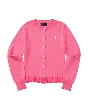 Ralph Lauren Childrenswear Girls' Ruffled Pima Cotton Cardigan - Big Kid