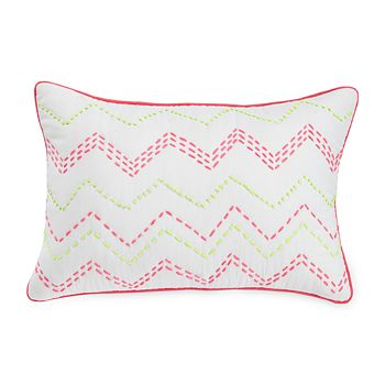 "bluebellgray - Ziggy Embroidered Decorative Pillow, 12"" x 18"""
