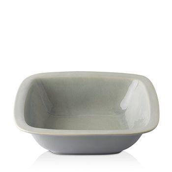 """Juliska - Puro Mist Grey Crackle 10.5"""" Rounded Square Serving Bowl"""