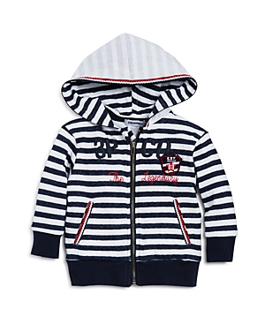 3 Pommes Infant Boys Striped Hoodie  Sizes 324 Months