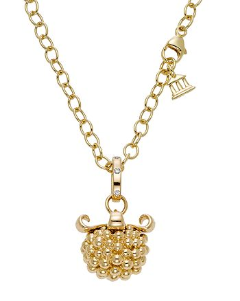 Temple St. Clair - 18K Yellow Gold Large Pod Pendant with Diamonds