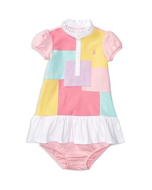 Ralph Lauren Childrenswear Girls' Patchwork Front Knit Dress & Bloomer Set - Baby