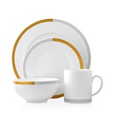 Vera Wang Castillon Gold/Gray Dinnerware Collection - Bloomingdale's_0