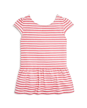 kate spade new york Girls' Bow Back Peplum Top - Sizes 7-14