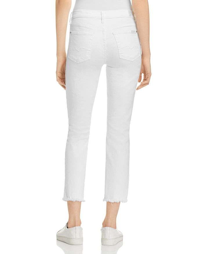 2721a9216b 7 For All Mankind Roxanne Raw Hem Ankle Jeans in White Fashion ...