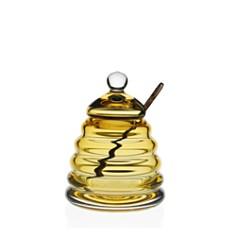 William Yeoward Crystal - Honeycomb Honey Jar and Spoon