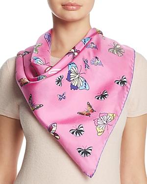 Kinloch Butterfly Print Silk Scarf