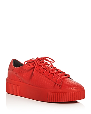 Kendall and Kylie Reese Embossed Lace Up Creeper Platform Sneakers