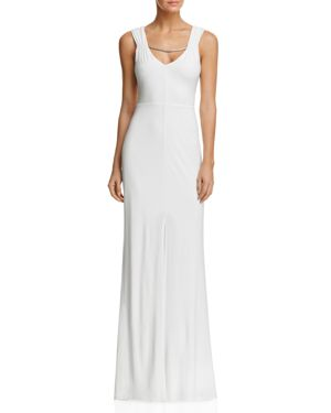 Laundry by Shelli Segal Embellished-Strap Gown