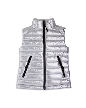 Sam. Girls' Lightweight Metallic Down Puffer Vest - Big Kid