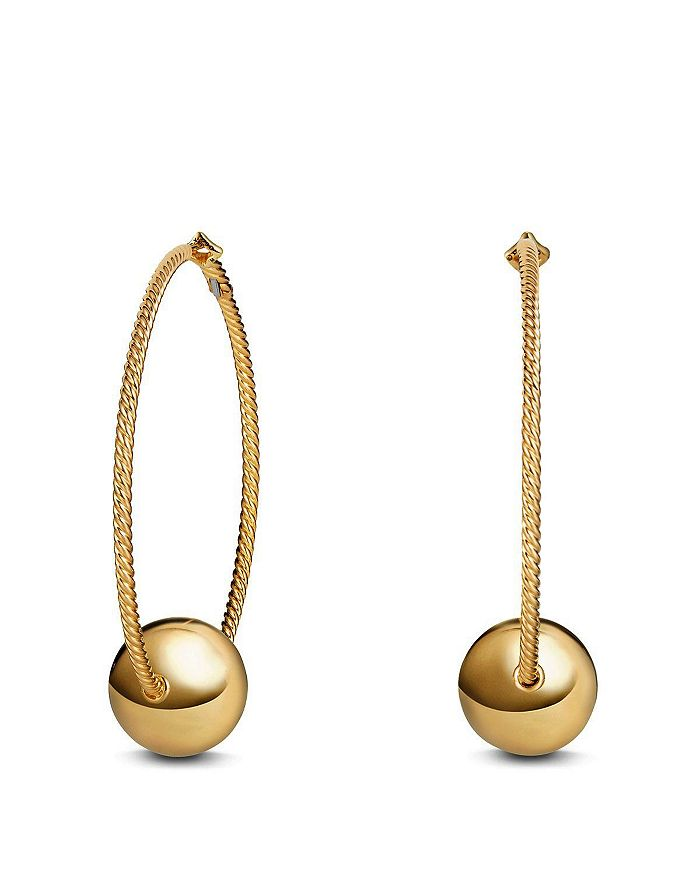 David Yurman - Solari Large Hoop Earrings in 18K Gold