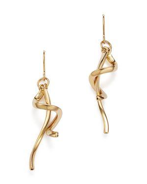 Bloomingdale's 14K Yellow Gold Swirl Drop Earrings - 100% Exclusive