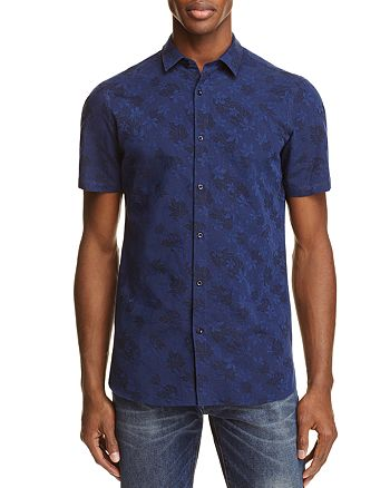 The Kooples - Floral Slim Fit Button-Down Shirt - 100% Exclusive