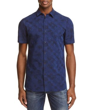 The Kooples Floral Slim Fit Button-Down Shirt - 100% Exclusive