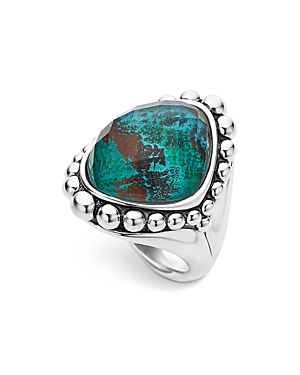 Lagos Sterling Silver Maya Escape Chrysocolla Doublet Dome Ring