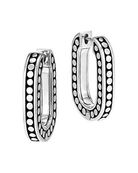 John Hardy - Sterling Silver Dot Small Link Earrings