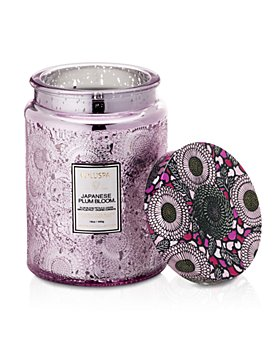 Voluspa - Japonica Japanese Plum Bloom Large Embossed Glass Candle 16 oz.