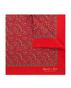Hilditch & Key Small Paisley Pocket Square