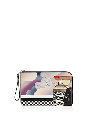 marc jacobs female marc jacobs julie verhoeven clouds flat leather pouch