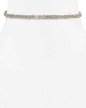Alexis Bittar Swarovski Crystal Pave Spike Choker Necklace