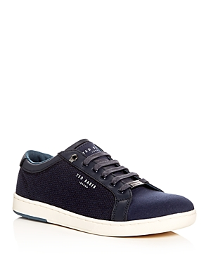 Ted Baker Ternur Printed Canvas Lace Up Sneakers